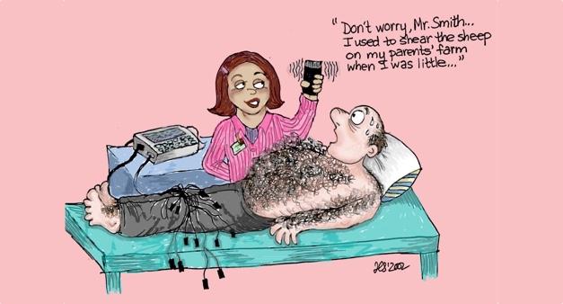 ecg dot application hair removal image